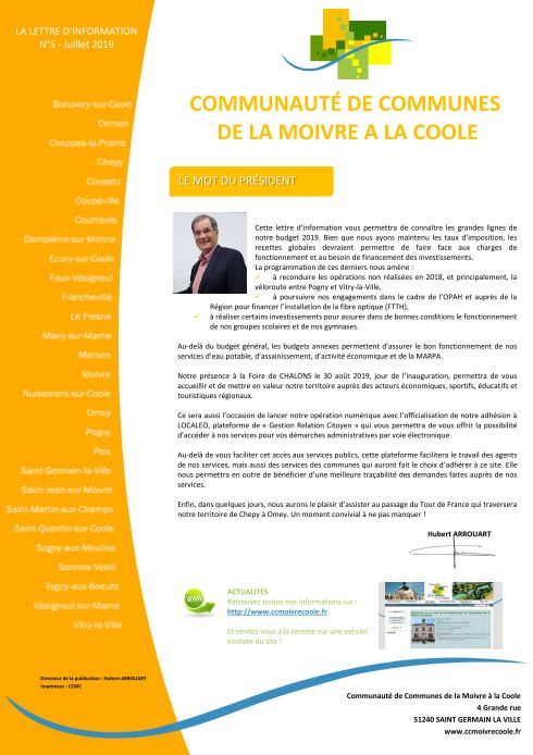 Bulletin d'information n°5