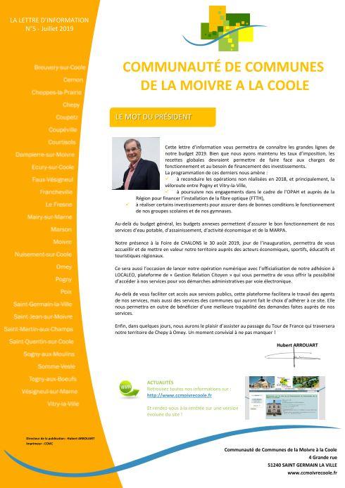 Couverture Bulletin d'information n°5