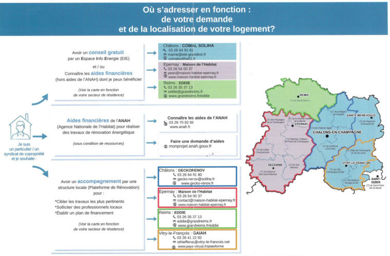 Départemeent de la Marne : qui contacter pour la rénovation de mon logement