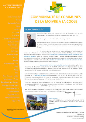 Couverture Bulletin d'information n°6